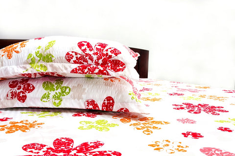 Fitted Bedsheet with Floral Prints (King Size)