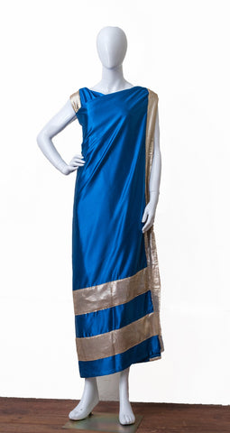 Designer Jainsem with Zardozi work (Blue)