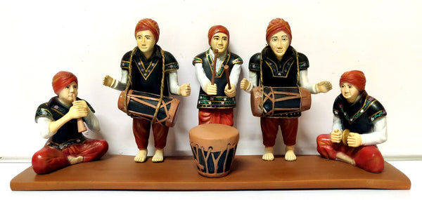 Handmade Tribal Drummer Showpiece