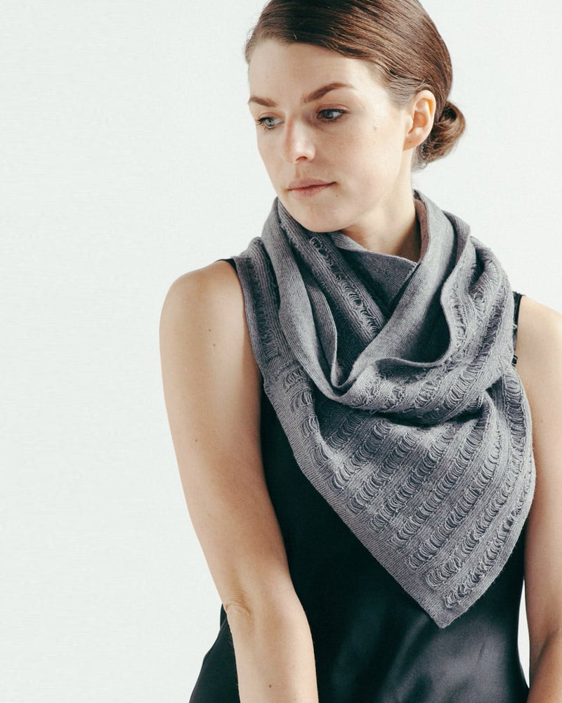infinity laddered scarf in silver