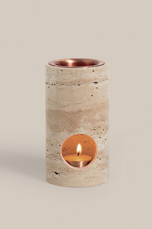 synergy oil diffuser in travertine
