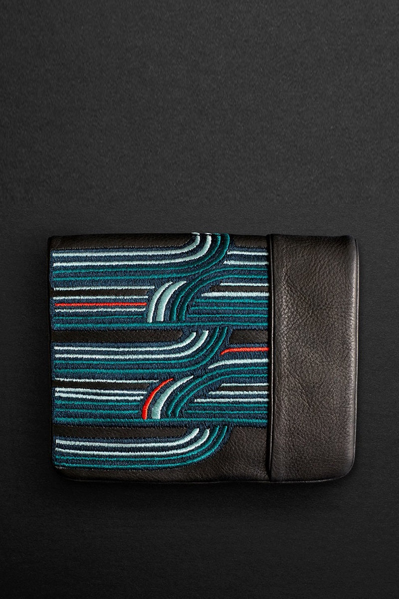 retro squire wallet in teal