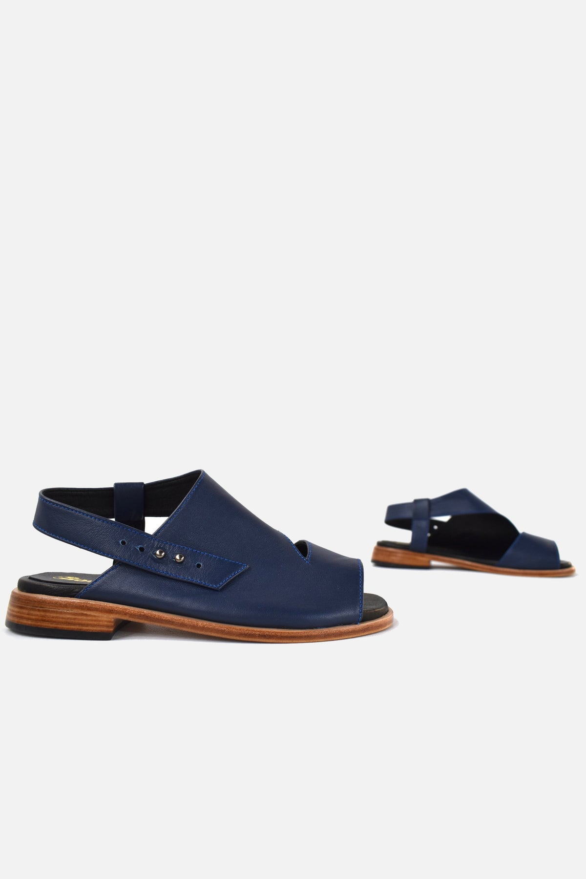 booker and co venus sandals in blue at stockroom