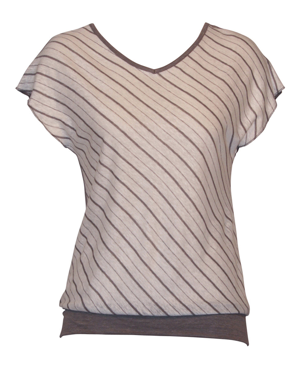 candy cane linen top in latte