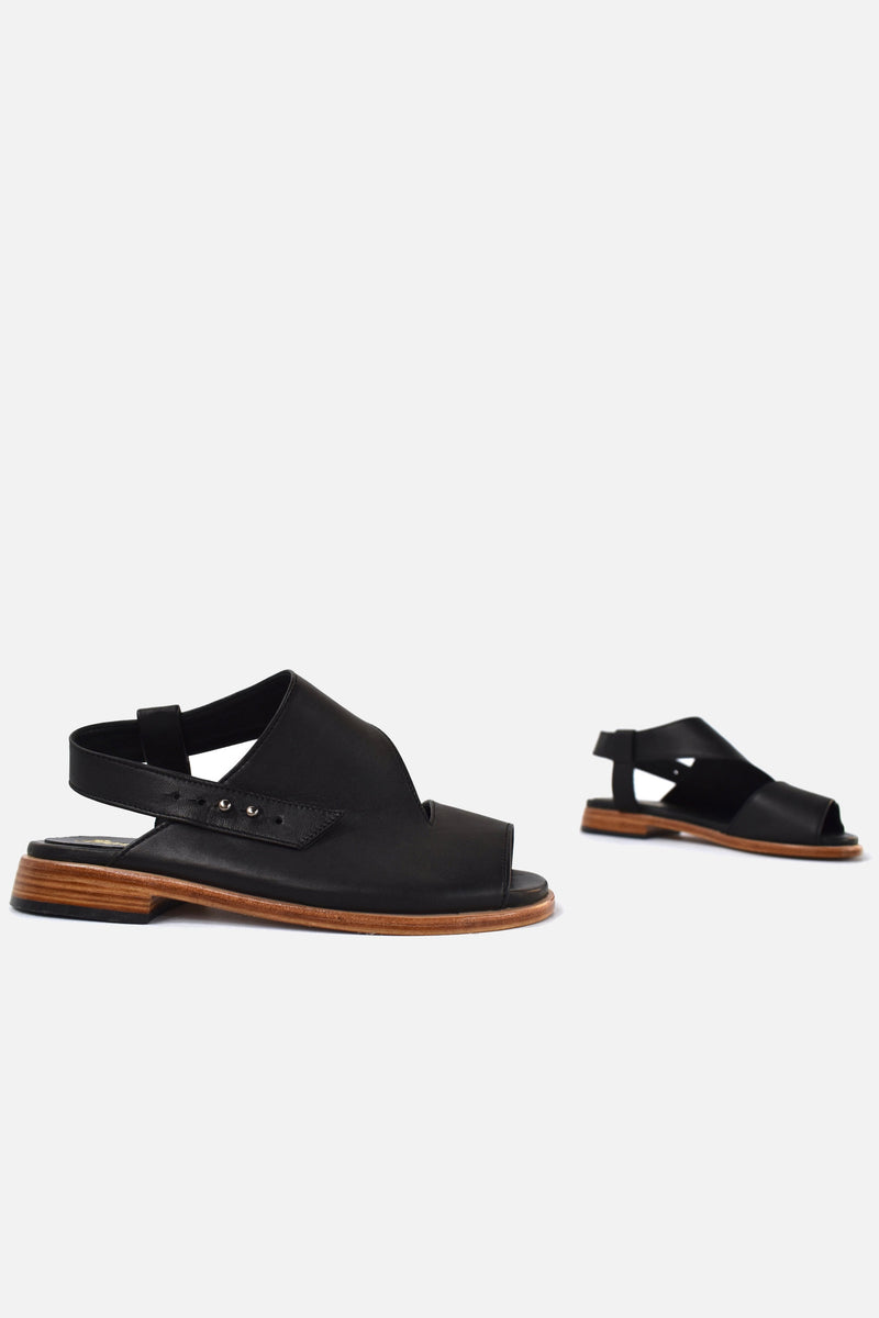booker and co venus sandals in black at stockroom