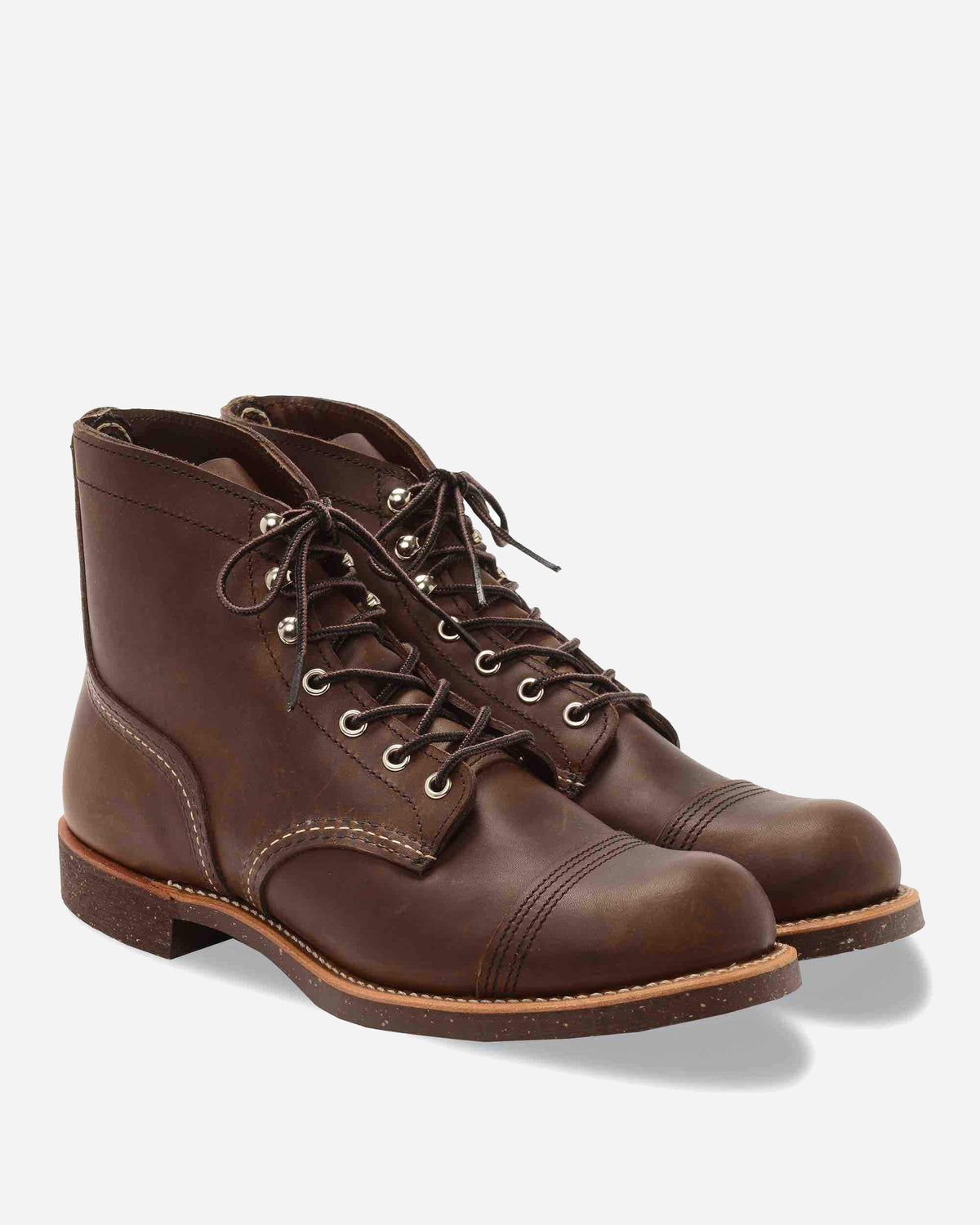 Red Wing Studio iron ranger men boot in amber