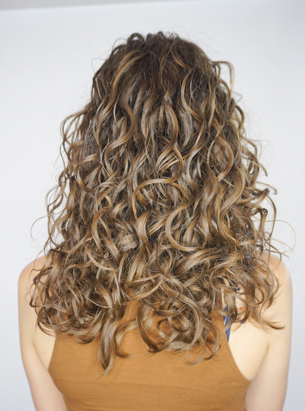 Back of a woman's head with perfect curls