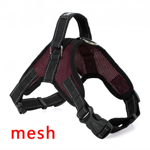 Wine Red Dog Harness (Mesh) - dogs-over-everything
