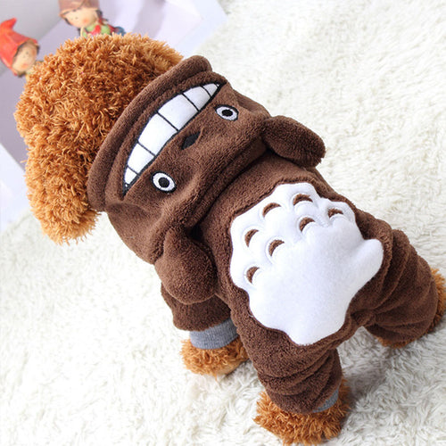 Brown Warm Dog Clothes - dogs-over-everything