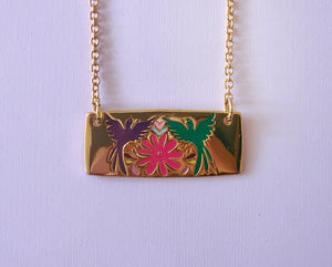 Pendant two birds - Frida Kahlo collection