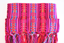 Load image into Gallery viewer, mexican rebozo pink bohemian wool design