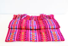 Load image into Gallery viewer, mexican rebozo pink ethnic wool design