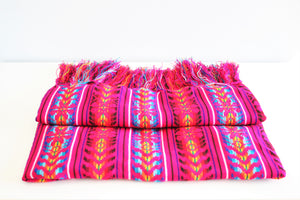 mexican rebozo pink ethnic wool design