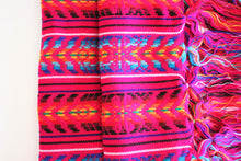 Load image into Gallery viewer, mexican rebozo pink handmade wool design