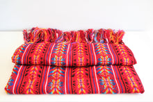 Load image into Gallery viewer, mexican rebozo red ethnic wool design