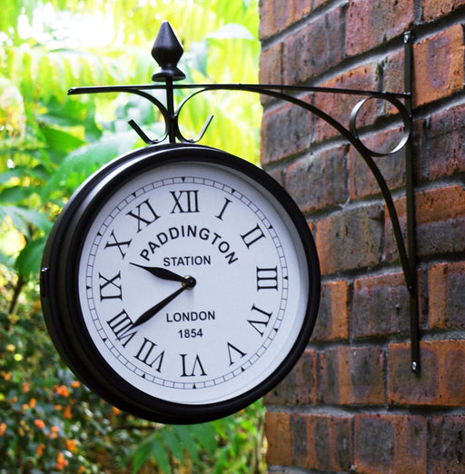Vintage Paddington Station Double Side Wall Clock