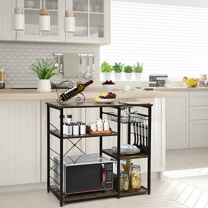 Kitchen Storage Industrial Baker's Rack Stand Utility Storage Shelves
