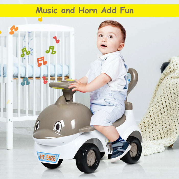 3 IN 1 Children Ride-on Push Along Car