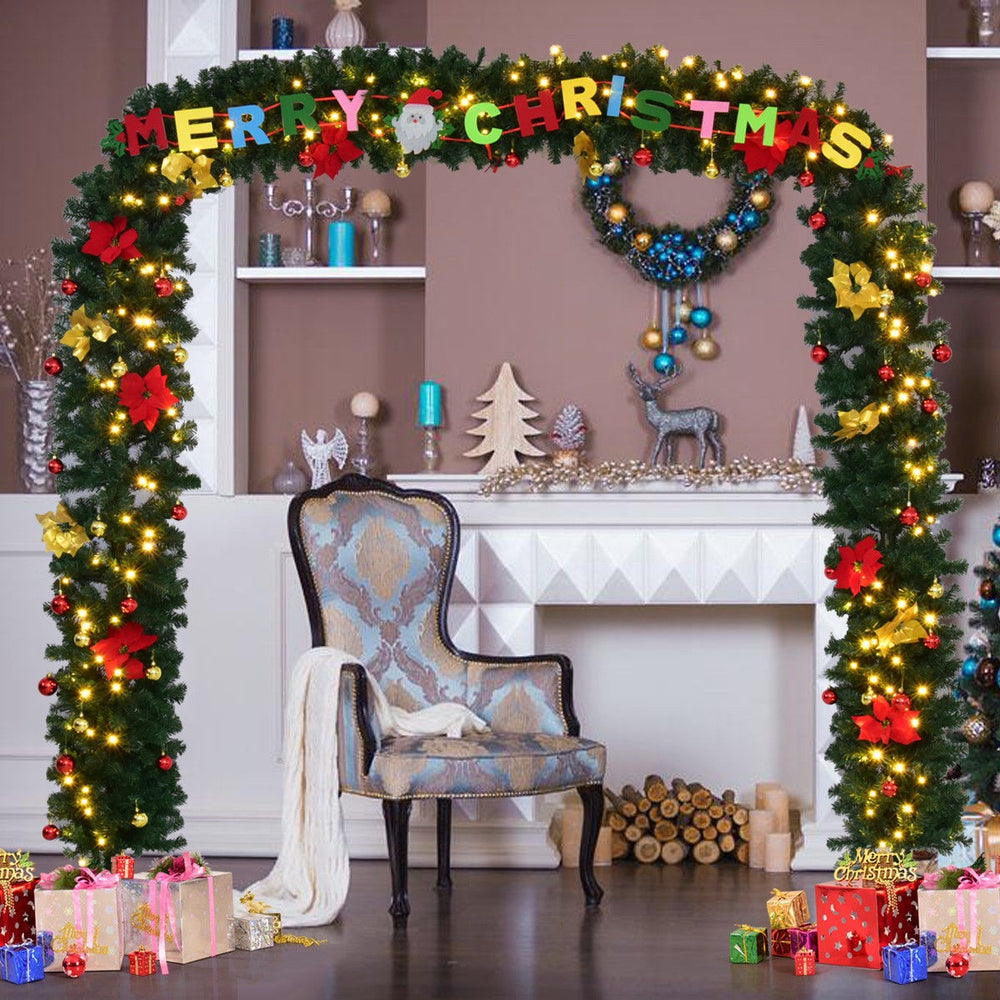 Artificial Christmas Tree Arch with LED Lights