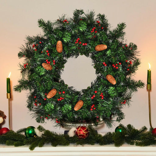 Artificial LED Light Christmas Wreath Decoration