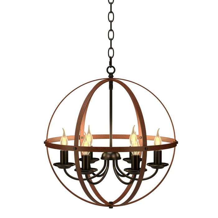 Metal Globe Ceiling Light Chandelier Lamp Chain