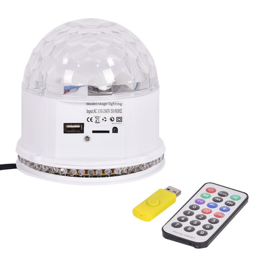 MP3 48 LED Crystal Magic Ball, 10w Stage Lighting