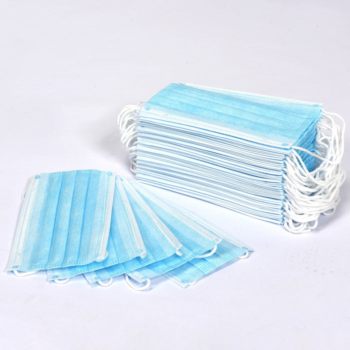 50 Pcs Thick 3-Layer Breathable Non-woven Fabric Disposable Face Mask