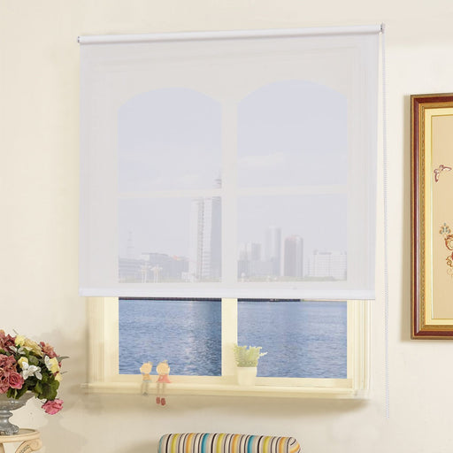 Semi-Transparent Half Shut Roller Blind in 4 Colours