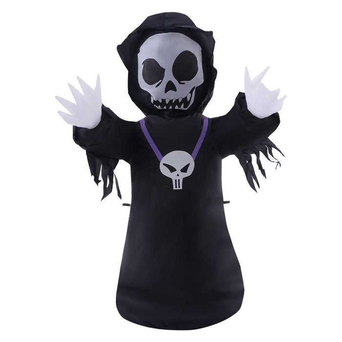 1.2m (4ft) Inflatable Ghost Halloween Decoration Light Up Outdoor/Indoor