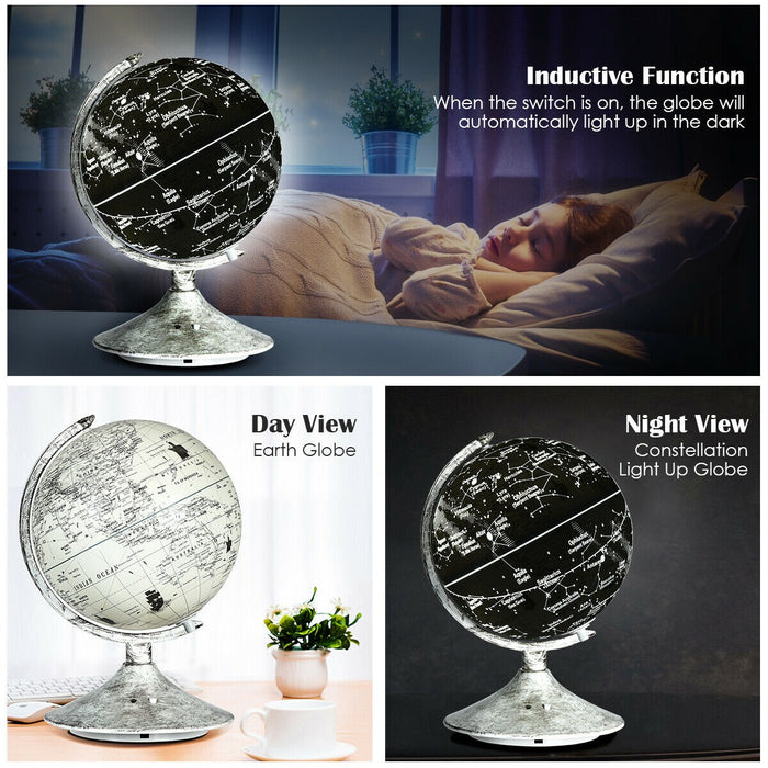 2 in 1 Illuminated World Globe