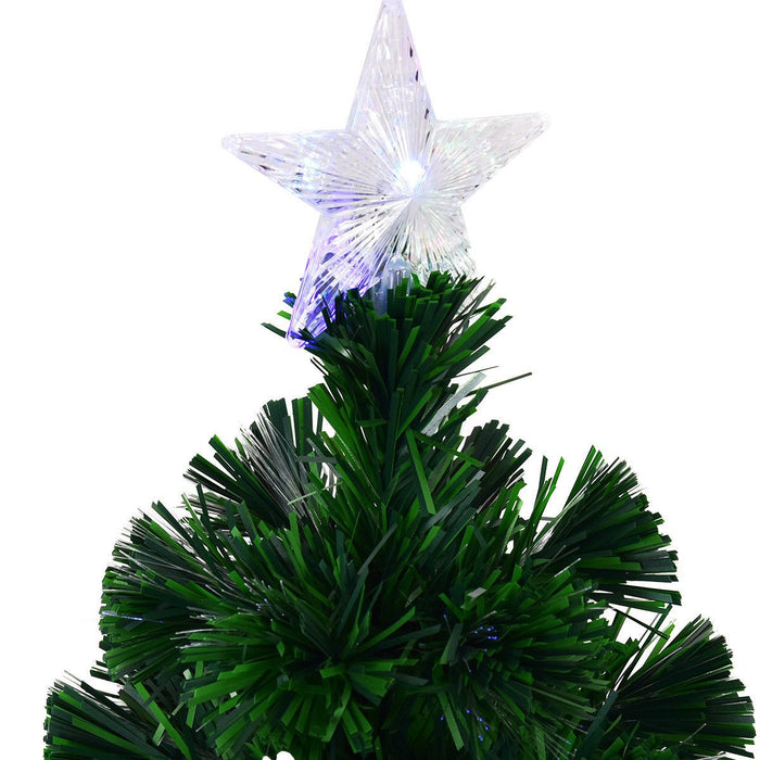Fibre Optic Christmas Tree with Snowflake and Star Decoration