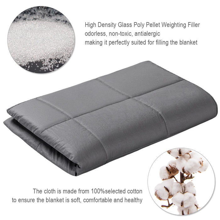Premium Weighted Blanket Sensory Sleep Reduce Anxiety Cotton