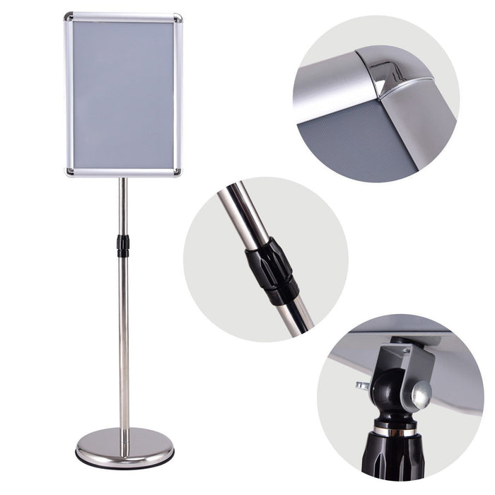 Graphics Adjustable Aluminum Snap Pedestal Poster Stand
