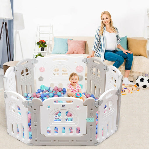10 Panel Foldable Baby Playpen