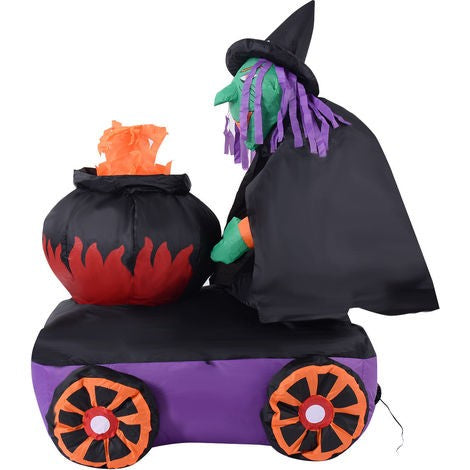 1.8M Inflatable Witch Holding Cylinder