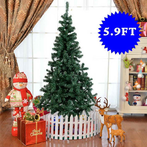 5.9ft (1.8m) Artificial Christmas Tree with Metal Stand