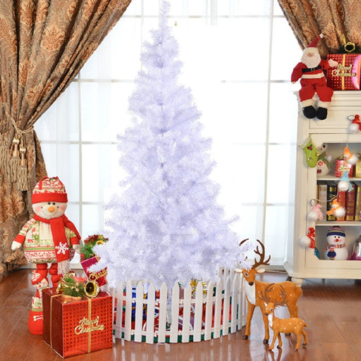 White Artificial Christmas Tree with Metal Stand in 4 Heights
