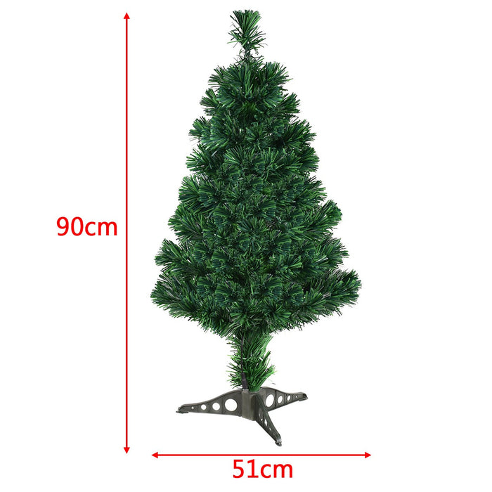 3FT 4FT 5FT 6FT Artificial Fiber Optic Christmas Tree Decoration