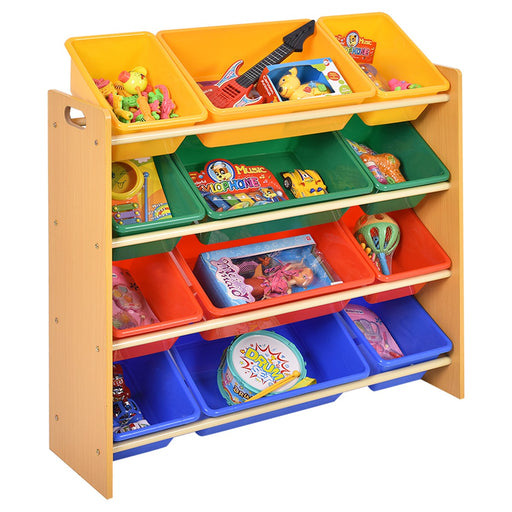3 Tier Plastic Toy Bins Organizer Storage Box