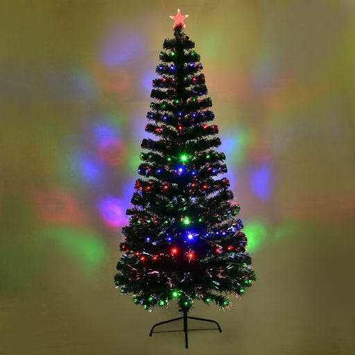 2.1 m Changing Lights LED Fiber Optic Christmas Tree