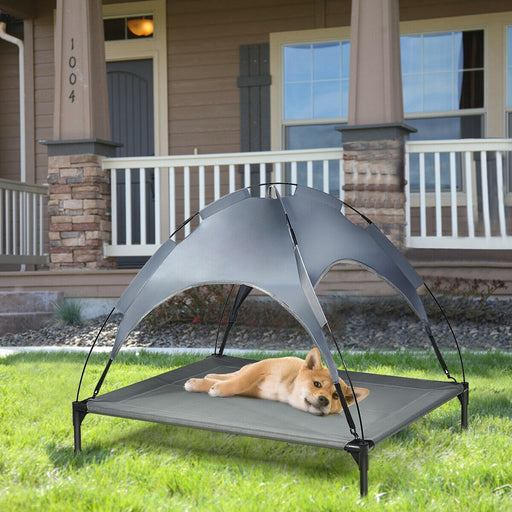 Elevated Pet Bed with Removable Canopy