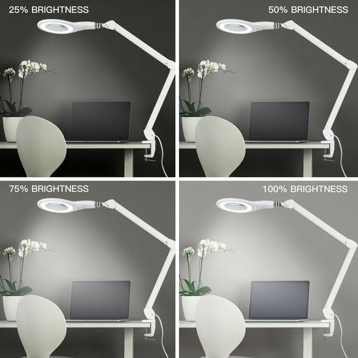 2 IN 1 Magnifier Magnifying Glass Light 2.25X Lens