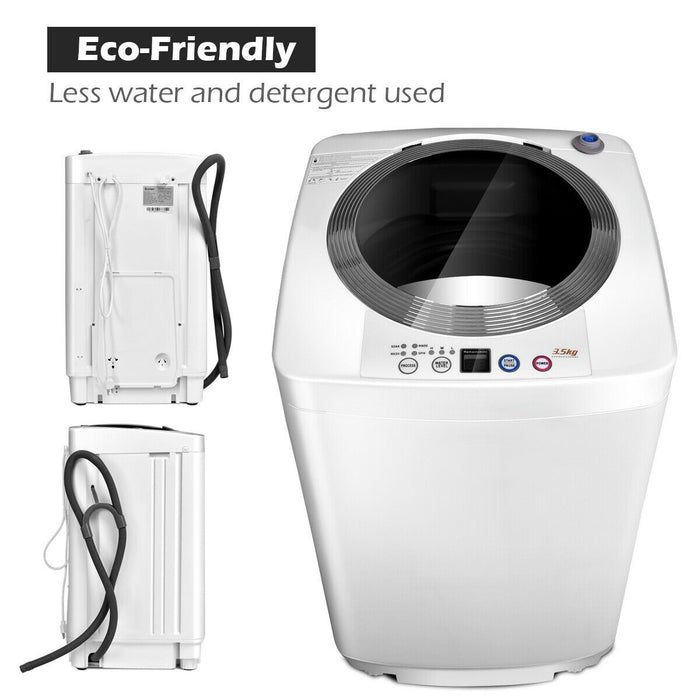 2 in 1 Free-Standing Compact Automatic Washing Machine