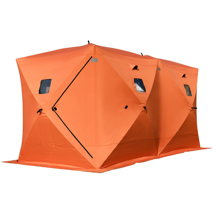 Portable Waterproof 8-person Ice Shelter Fishing Tent w/ Bag Outdoor