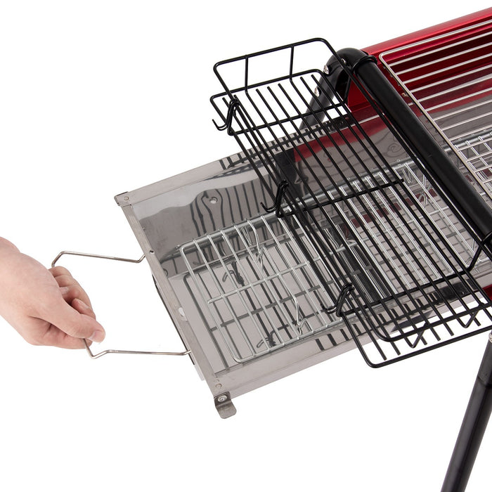 Outdoor Charcoal BBQ Grill with Baskets