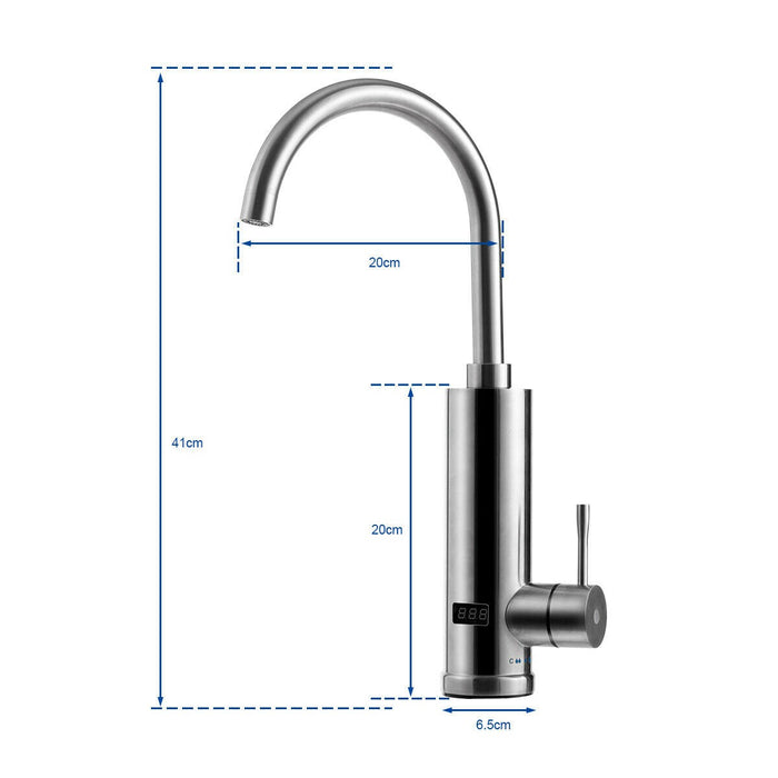 Electric Fast Heating Water Tap with LED Display
