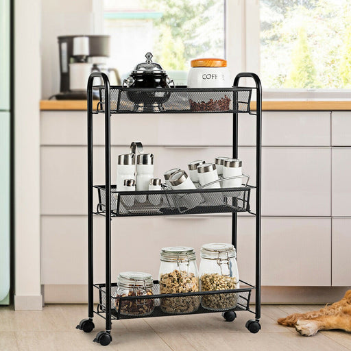 3 Tier Storage Shelf Trolley with Wheels