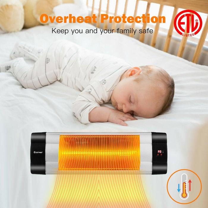 1500W Infrared Wall-Mounted Heater with Remote Control