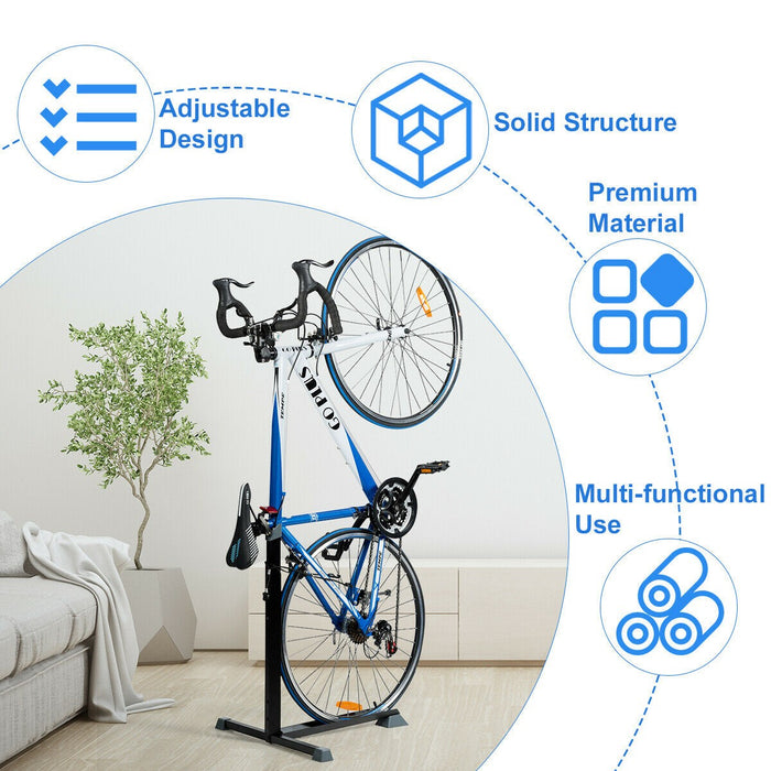 Adjustable Height Bicycle Stand