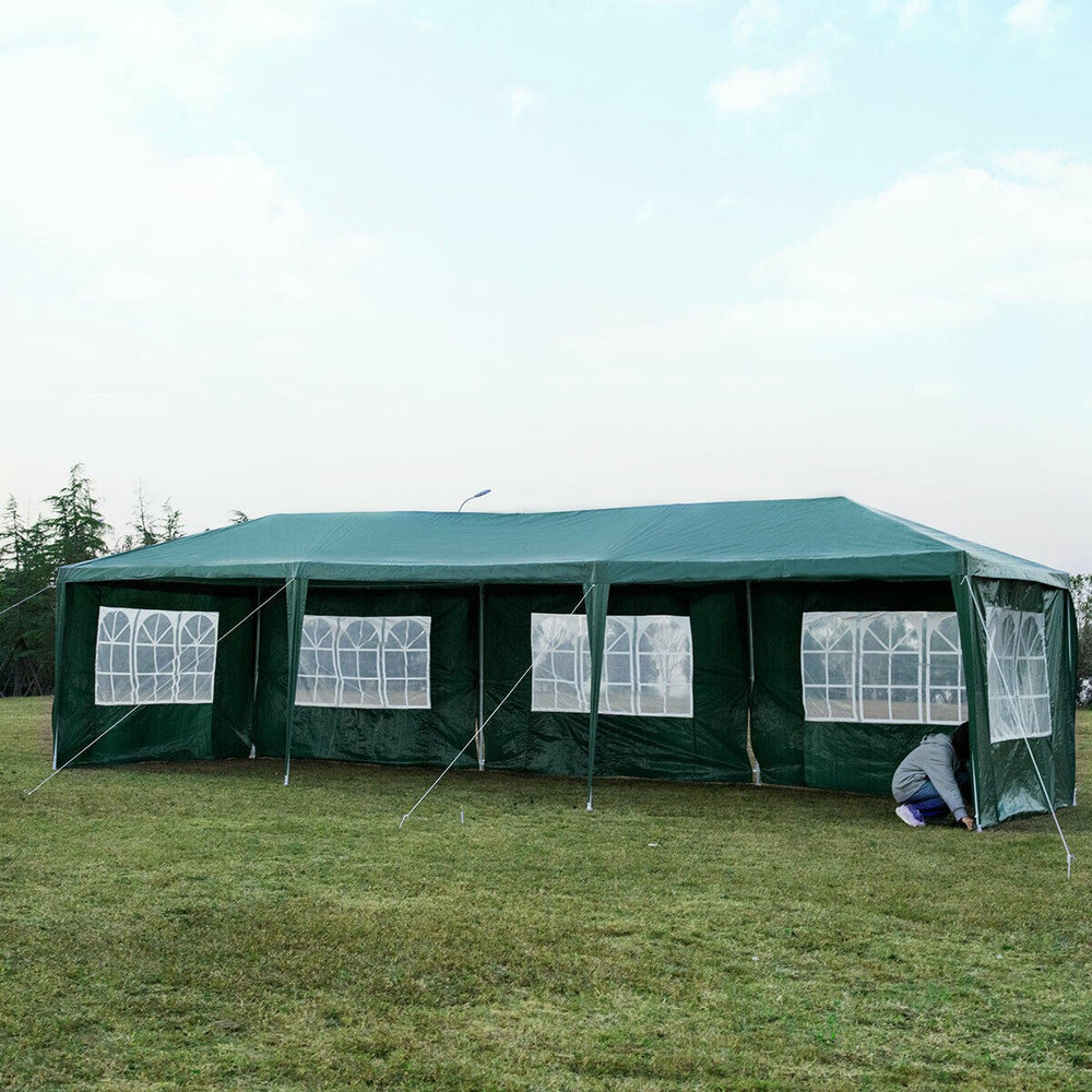 3 x 9M Gazebo Canopy Pop-up Waterproof Garden Wedding Party Tent